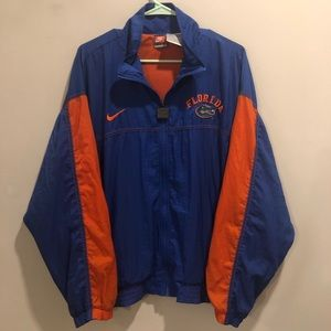 nike team sports florida gator windbreaker vtg
